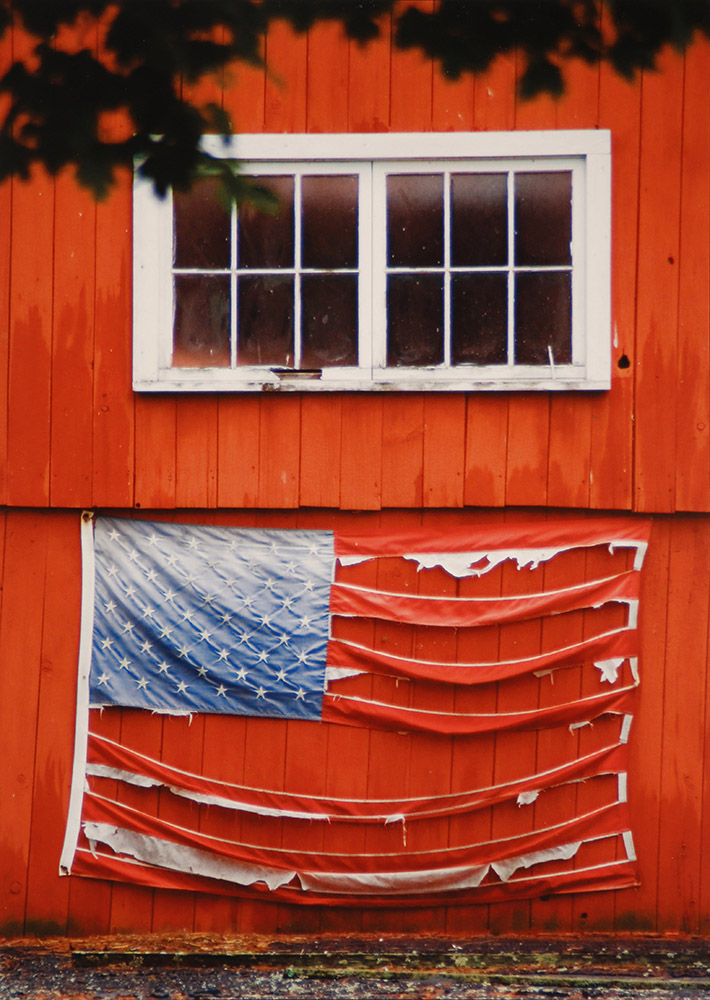 Tattered Flag, Red Barn Northville, CT, 2007